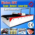impresso têxteis sublimação tecido laser máquina de corte com a visão de corte