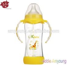 Fresh Festival Element Baby Bottle, Borosilicate Glass Feeding Bottle with Sika Deer