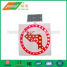 Aluminum LED Solar Traffic Prohibition Sign