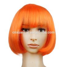 Wholesale cheap short orange bob color wigs parti wigs