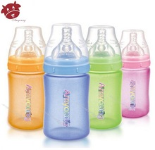 2014 innovative creative products pyrex feeding bottle, al por mayor,glass baby bottle with safe silicone sleeve