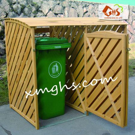 Esterno in legno bidone della spazzatura scatole e scatole for Contenitori in pvc per esterni
