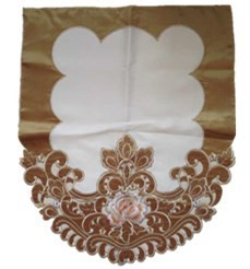 embroidery satin sofa cover