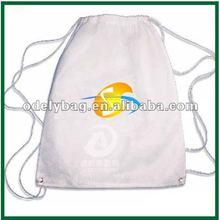 2012 fashion white non woven drawstring backpacks