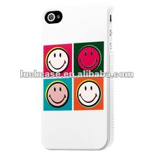 Colorful smile face plastic case cover for iphone 4s