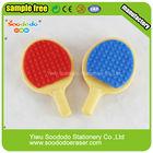 Sport eraser Ping pong school material rubber eraser