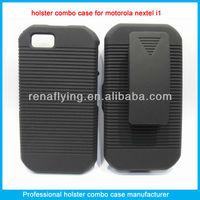 Rubberized cell phone holster case for Motorola nextel i1X/titanium