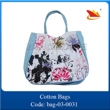 European style colorful printed flower trendy young ladies shoulder shopping bag
