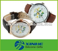 nice looking man watch with leath strap for promotion items