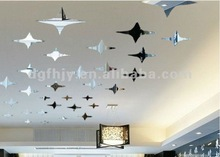 Decoration acrylic mirror,Stereo mirror wall sticker,house ceiling stars