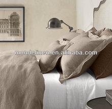 100% stone washed pure linen bed sheet flat sheet