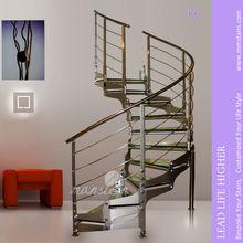 Modern Indoor Glass Circular Stairs