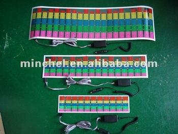 new design equalizer EL Car Sticker(CE, RoHS, Factory Price, Good Quality, Long Life)