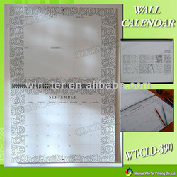 2013 design wholesale wall calendar printing WT-CLD-390
