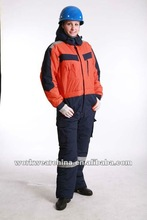100% Nylon taslon with polyester taffeta lining winter workwear cotton overalls for women