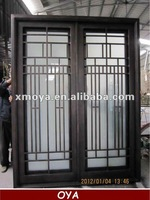 Wrought iron front main double entry door design home
