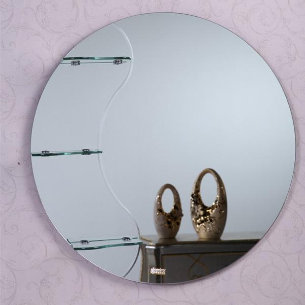 contempoary round bathroom mirror with shelf buy. Black Bedroom Furniture Sets. Home Design Ideas