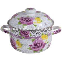 2012 NEW STYLE ROSE ENAMEL PAN FG-22&ENAMEL COOKWARE&SAUCE PAN&PAN STOCK