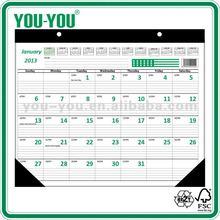 economic type Manufacturer of 11x22, 22x17in Desk 2014 Calendar