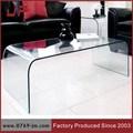 moderne table basse en verre
