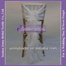 C003M Fancy white ruffled chiavari chair covers wedding wholesale