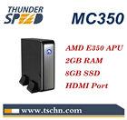 The Latest X86 Mini PC MC350 with AMD E350 Dual Core 1.6GHz CPU 2GB RAM 8GB SSD HDMI DVI Port Windows XP/Windows 7/ Linux OS