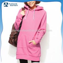 Plus size fashion design cheap blank women long hoodies