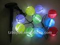 L'énergie solaire led lanterne lumière. Tissu chinois lanterne à led blanche
