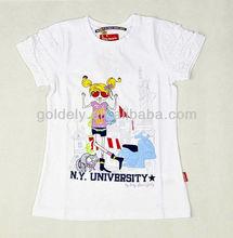 High Quality Wholesale Cotton Kid t Shirt with Cartoon Print