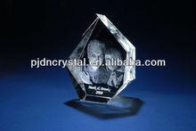 3d photo crystal laser engraving gift