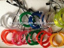 polar light el flashing wire /el flashing cable with 200cd/m2 brightness for diameter 1.4mm/2.3mm/3.2mm/4mm/5mm