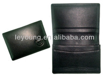 Black PU leather card organizers expandable