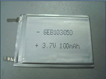 ultra thin 3.7v 100mah 103050 rechargeable lithium ion battery cell