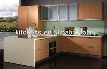 PVC Membrane simple Kitchen Cupboard (AGK-026)