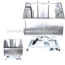 Stainless steel electric lifting bath-tub,dog bath-tub /H-107