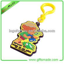 fashionable soft silicone pvc keychain embossed cute logo