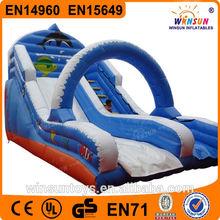 kindergarten custom slip n climbing slide inflatable