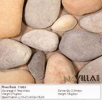 fake river rock stone garden wall decorative fireplace mantle