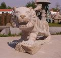 decorativi da giardino moderna grande a grandezza naturale di pietra granito scolpito statua animale selvatico