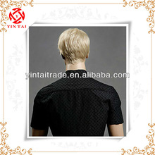 Best selling fashion short mens synthetic wigs, handsome wig for Men