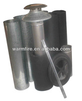 wood fireplace chimney flue pipes