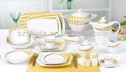 121pcs S Shape Porcelain Dinner Set Special shape dinnerware