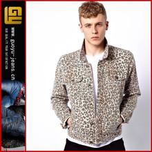 fashion leopard denim jacket fashion hot sale mens denim jacket(GYB0058)