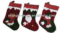 (XS-07ABC)2014 felt santa Christmas stocking,home decoration,ornament
