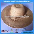 trançado de palha de ráfia chapéus agricultor para o verão