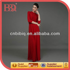 Long Sleeve Red Evening Dress