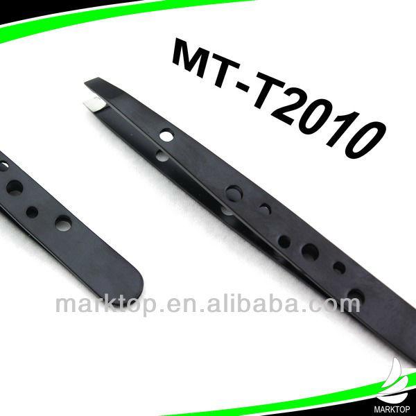 Black patten stainless steel tweezers for eyelash