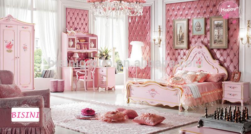 Euorope stile principessa rosa collezione bambini mobili ...
