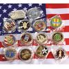 A Series of 3D Double Side Brass Souvenir or Challenge Coin