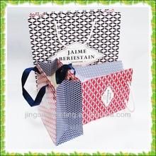Luxury custom logo glossy art paper bag in Guangzhou